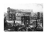 View of the Arch of Constantine and the Colosseum, from the 'Views of Rome' Series, C.1760 Giclee Print by Giovanni Battista Piranesi