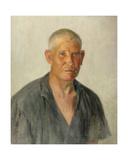 Portrait of Kolkhoz Farmer Grigorii Kartashov, from the Timoshenko Kolkhoz, Krasnodarskii Krai,… Giclee Print by Konstantin Lekomtsev