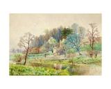 A Forest Farm, Horsham, Sussex, C.1880-1900 Giclee Print by Arthur Willett
