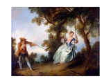 The Swing, 1730 Giclee Print by Nicolas Lancret