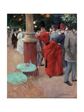 Le Jardin Public, C.1884 Giclee Print by Jean Louis Forain
