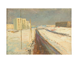 New Urban District - Moscow Is Being Built, 1960s Giclee Print by Konstantin Lekomtsev