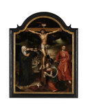 Christ on the Cross with the Virgin, St. John and Mary Magdalene Giclee Print by Pieter Claeissens