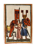 Wolfram Von Eschenbach (Ca.1170-1220), German Poet, Author of 'Parzival', with Harness and… Lámina giclée