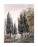 In the Gardens of the Villa Pamfili, Rome Giclee Print by John Robert Cozens
