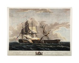 U.S. Frigate Constitution Capturing Frigate Guerriere, 1813 Giclee Print by Thomas Birch