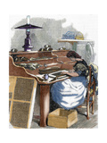 The Snuff Industry. Woman Rolling Cigars. France Giclee Print
