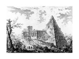 View of the Pyramid of Caius Cestius, from the 'Views of Rome' Series, C.1760 Giclee Print by Giovanni Battista Piranesi