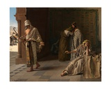 The Departure of the Prodigal Son, 1881 Giclee Print by Edouard de Jans