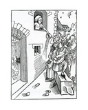 Of Nyght Watchers and Beters of the Stretes Playnge by Nyght on Instrumentes and Vsynge Lyke… Giclee Print by German School