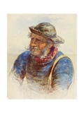 Study of a Fisherman, 1870 Giclee Print by James Drummond