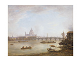 St Paul's and Blackfriars Bridge Giclee Print by William Marlow