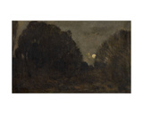 The Moon Rising in Barbizon Giclee Print by Charles Francois Daubigny