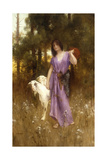 The Shepherdess Giclee Print by Carl Wunnerberg