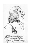 Antonio Vivaldi, 1723 Giclee Print by Pier Leone Ghezzi