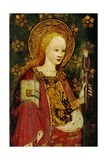 St. Apollonia, Holding a Pair of Pincers and a Tooth, Detail of the Rood Screen, St. Michael's… Giclée-Druck