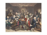 Scene in a Gaming House, Plate VI from 'A Rake's Progress, Illustration from 'Hogarth Restored:… Giclee Print by William Hogarth