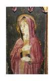 The Blessed Virgin, Detail of the Rood Screen, Church of St. Helen, Gateley, Norfolk, Uk Giclée-Druck