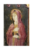 The Blessed Virgin, Detail of the Rood Screen, Church of St. Helen, Gateley, Norfolk, Uk Giclee Print