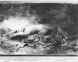 Naked Young Girl Lying on an Animal Skin Photographic Print by Anne Louis Girodet de Roucy-Trioson