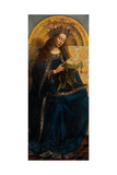 The Virgin Mary, from the Ghent Altarpiece, 1432 Giclee Print by Hubert & Jan Van Eyck