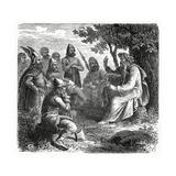 A Bard Reciting to Northmen, C.1882 Giclee Print