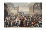 March of the Guards to Finchley, Illustration from 'Hogarth Restored: the Whole Works of the… Giclee Print by William Hogarth