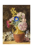 Mixed Flowers in a Brown and Fawn Jug, C.1860 Giclee Print by William Henry Hunt