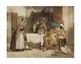 Scene from Shakespeare's 'Merry Wives of Windsor': Falstaff, Bardolf and Hostess, 1860 Giclee Print by William Knight Keeling