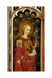 St. Apollonia, Holding a Pair of Pincers and a Tooth, Detail of the Rood Screen, St. Michael's… Giclee Print