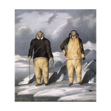 Koniaroklik and Neweetioke, 1835 Giclee Print by John Ross