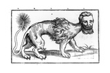 Manticore from 'Historie of Foure-Footed Beastes' by Edward Topsell, Published 1607 Giclee Print by Edward Topsell
