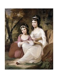Eliza and Mary Davidson, C.1784 Giclee Print by Tilly Kettle