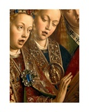 Detail of Singing Angels, from the Left Wing of the Ghent Altarpiece, 1432 Giclee Print by Hubert & Jan Van Eyck