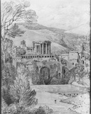 Temple of the Sibyl, Tivoli Photographic Print by Louis-Francois Cassas