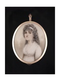 Portrait Miniature of Lady Hester Astley Wearing White Gown and Bandeau, 1797 Giclee Print by Nathaniel Plimer