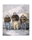 Kawalua, Tiagashu and Adlurak, 1835 Giclee Print by John Ross