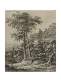 Landscape with Huntress Giclee Print by Anthonie Waterloo