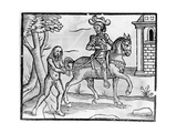 A Knight and a Wildman, C.1520-50 Giclee Print by Jacob Faber