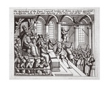 The Description of the Popes Council Held at Rome, in Which Appeared a Monstrous Owl, to the… Giclee Print