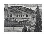 Industrial Scene on the Baikal Lake, C.1960s Giclee Print by Masabikh Akhunov
