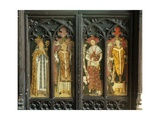 The Four Latin Doctors of the Church, Detail of the Rood Screen, St. Thomas Church, Foxley,… Giclee Print