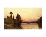 Sunset, at the River's Edge, 1904 Giclee Print by Hippolyte Camille Delpy