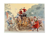 Here Comes the Circus', the Circus Carriage, 1894 Giclee Print by Eugene Courboin