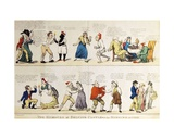 Caricature Depicting the 5th Duke of Rutland's Debauched Coming-Of-Age Party, 1799 Giclee Print by Isaac Cruikshank
