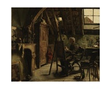 Workshop of a Painter, 1884 Giclee Print by Charles Mertens