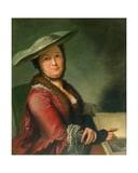 Madame Roubiliac, C.1760 Giclee Print by Francois Vispre