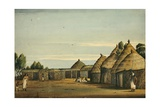 Village on Table Land of Hamassine, Abyssinia, C.1842 Giclee Print by Rupert Kirk