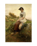 The Shepherdess Giclee Print by Henry Paul Perrault