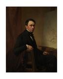 Self Portrait, 1854 Giclee Print by Eugene Joseph Verboeckhoven